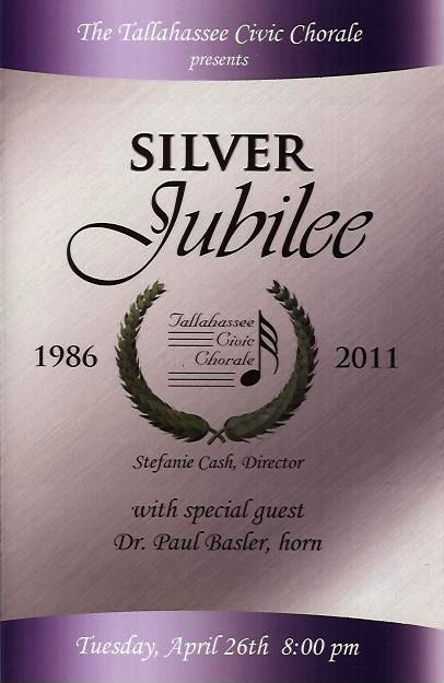 2011 Silver Jubilee Concert Poster (by Todd Hinkle)