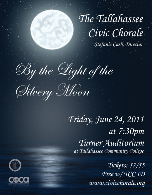 2011 By the Light of the Silvery Moon Concert Poster (by Todd Hinkle)