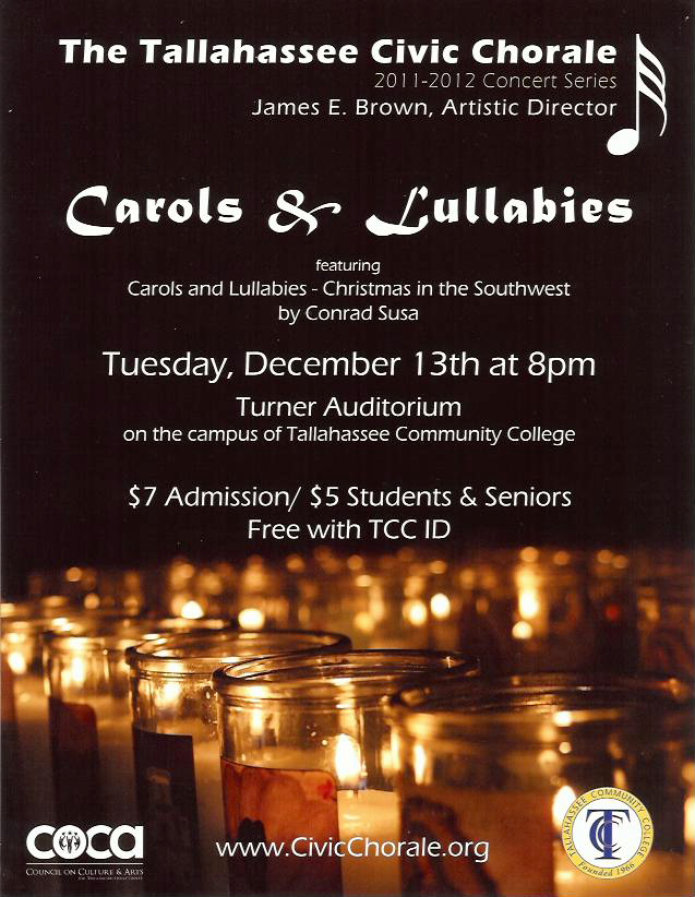 2011 Fall Carols & Lullabies Poster (by Todd Hinkle)