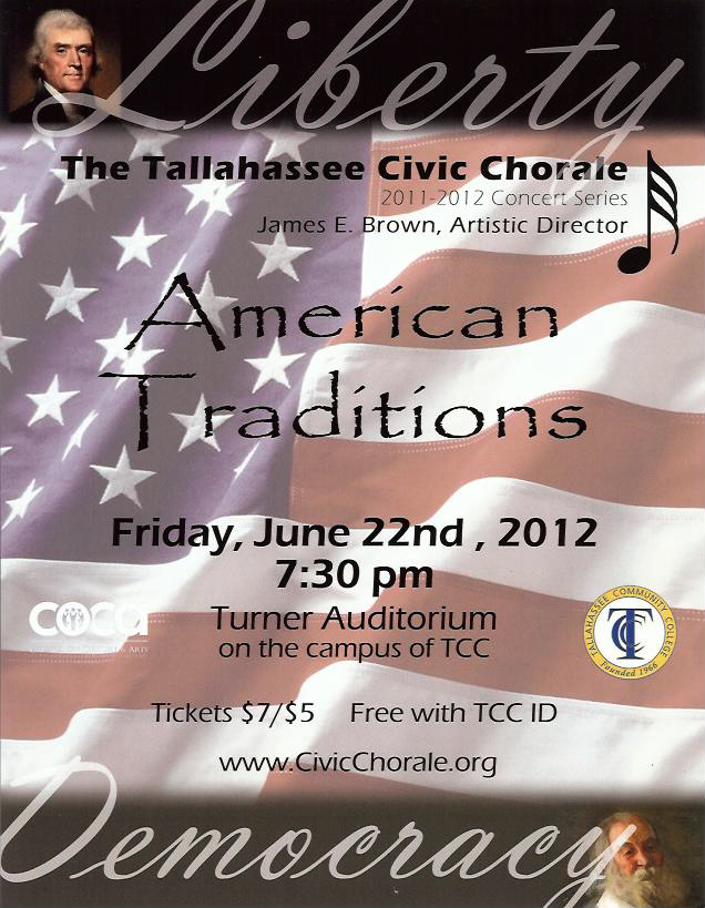 2012 Summer American Traditions Concert Poster (by Todd Hinkle)