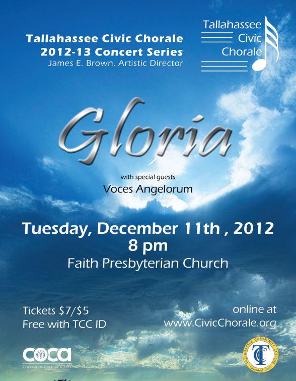 2012 Fall Gloria Concert Poster (by Todd Hinkle)