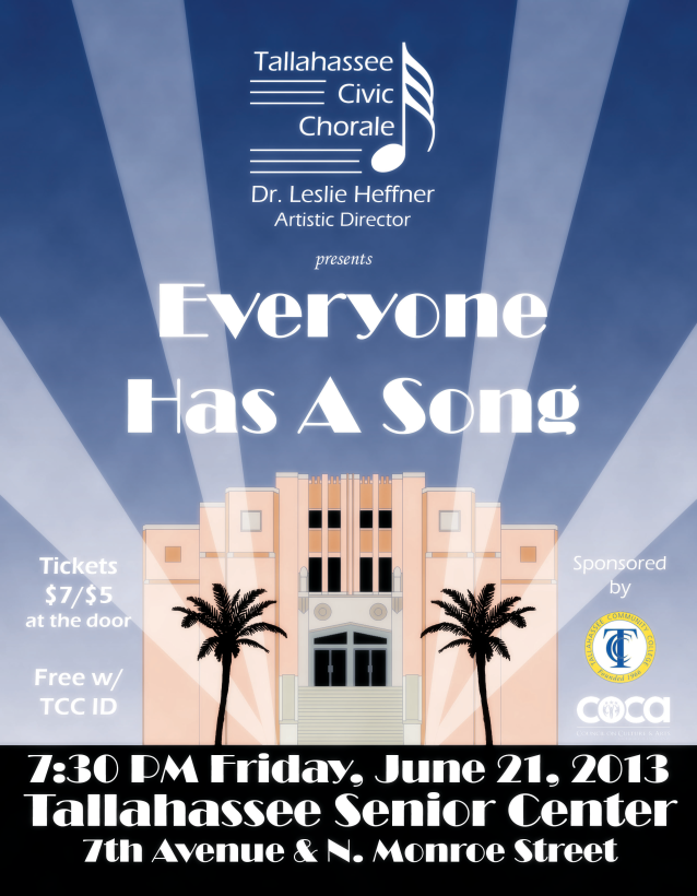 2013 Summer 'Everyone Has A Song' Concert Poster (by Todd Hinkle)