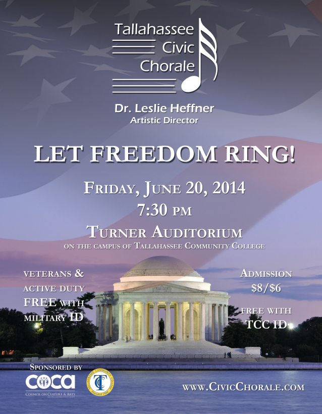 2014 Summer 'Let Freedom Ring' Concert Poster (by Todd Hinkle)
