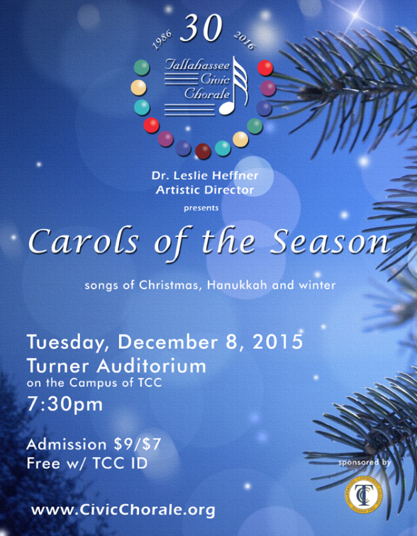 2015 Fall 'Carols of the Season' Concert Poster (by Todd Hinkle)