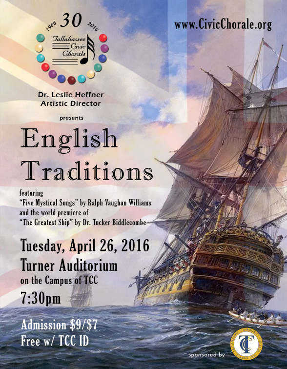 2015 Spring 'English Traditions' Concert Poster (by Todd Hinkle)