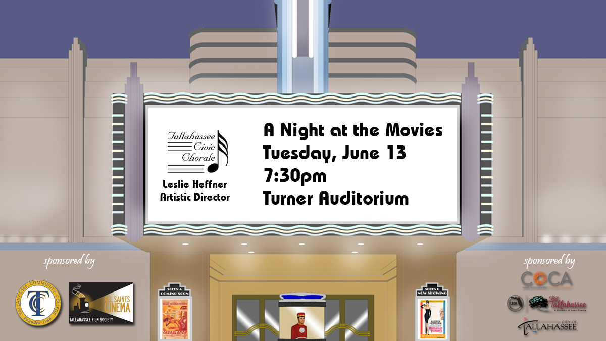 2017 Summer 'A Night at the Movies' Concert Poster (by Todd Hinkle)