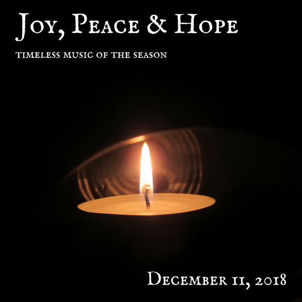 2018-19 Fall 'Joy, Peace & Hope' Concert Poster (by Todd Hinkle)