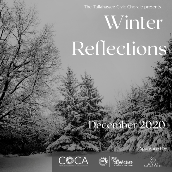 2020-21 Fall 'Winter Reflections' Concert Poster (by Todd Hinkle)
